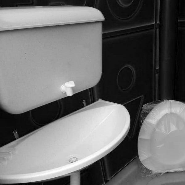 Туалетная кабина Комфорт черная биотуалет 008
