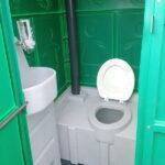 Туалетная кабина круглая крыша 008-1