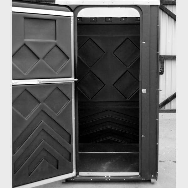 Туалетная кабина универсал черная 008