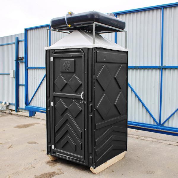 Теплый летний душ для дачи черный 003