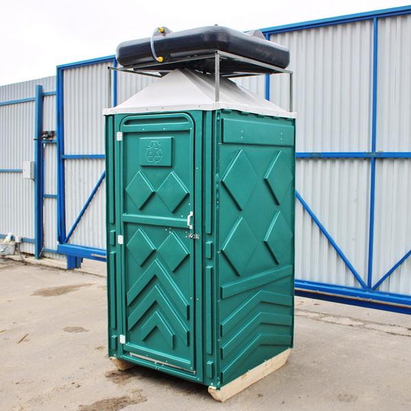 Теплый летний душ для дачи зеленый 003