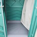 Теплый летний душ для дачи зеленый 008