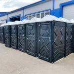 Туалетые кабины Эконом черные 001